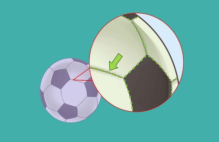 برسی نقاط اتصال بین دوخت توپ