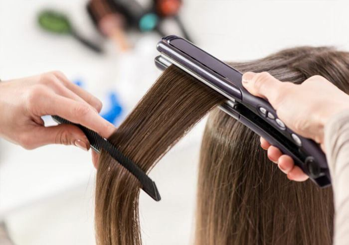 کراتینه کردن مو با اتو کراتینه
