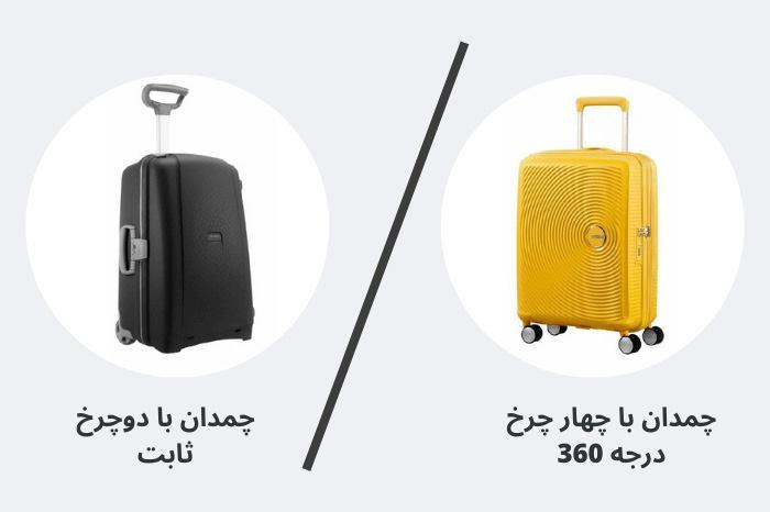 چرخ چمدان ها