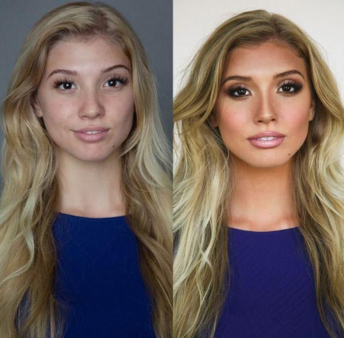 قبل و بعد برنزه شدن