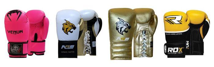 انواع مختلف دستکش بوکس