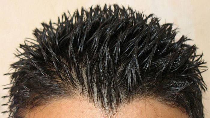 حالت دادن موی سر با چسب مو