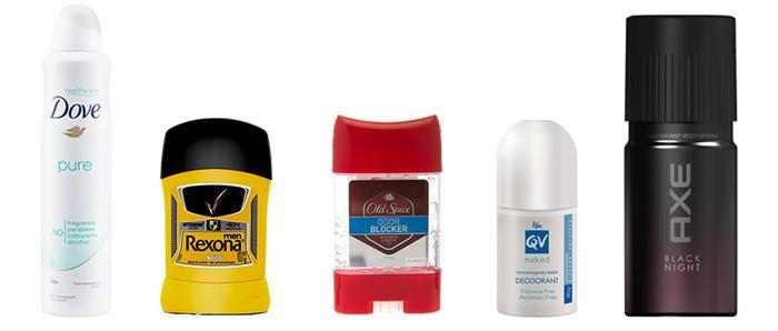 انواع محصولات ضد تعریق