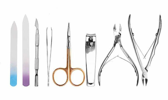ابزار مورد نیاز مانیکور و پادیکور