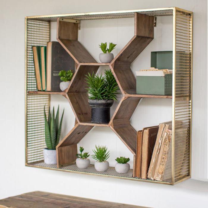 شلف چوبی کتابخانه ای