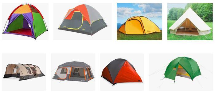 انواع مختلف چادر مسافرتی