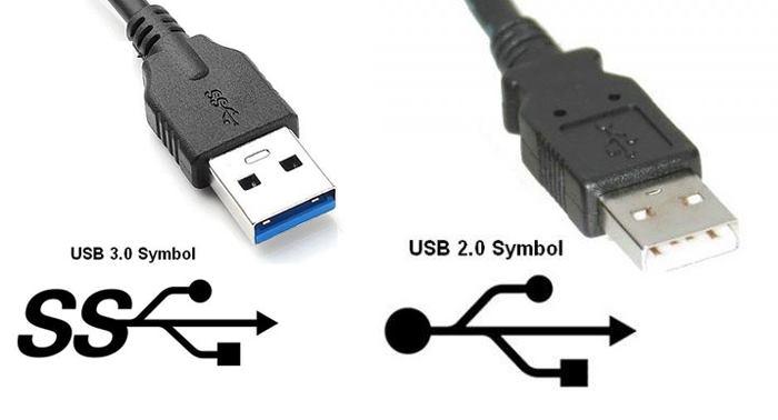 تفاوت ظاهری usb3 با usb2