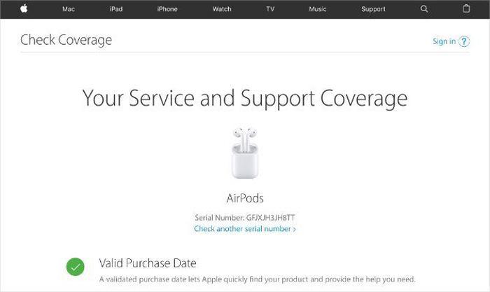 بررسی شماره سریال ایرپاد اصلی اپل