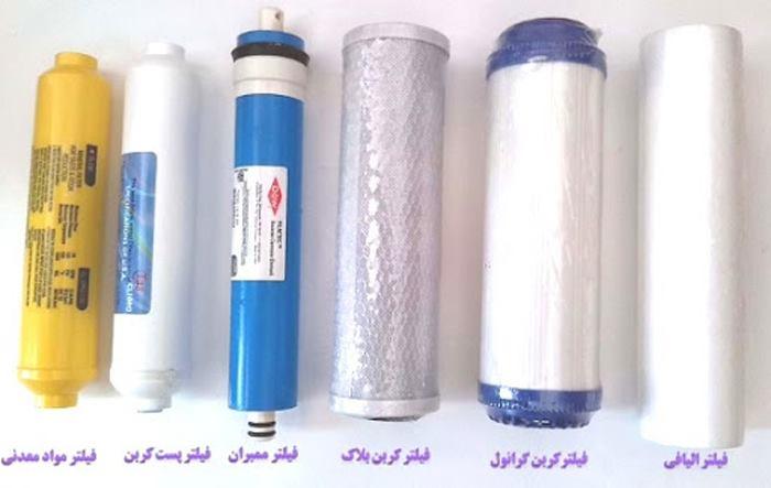 شناخت نام انواع فیلترهای دستگاه تصفیه آب خانگی